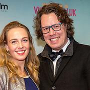 NLD/Amsterdam/20180122 - Filmpremiere Het leven is vurrukkulluk, Jelland Sprang en Claire Babai