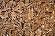 "Carved wooden door of Jameh Mosque, Yazd, Iran. Jameh (sometimes spelled Jamah) means ""Friday.""."