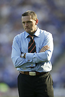 Photo: Aidan Ellis.<br /> Leicester City v Watford. Coca Cola Championship. 25/08/2007.<br /> Watford manager Aidy Boothroyd looks concerned by his side's 4-1 defeat