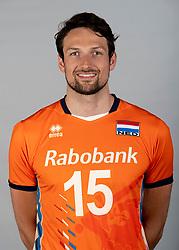 14-05-2018 NED: Team shoot Dutch volleyball team men, Arnhem<br /> Thomas Koelewijn #15 of Netherlands