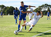 Joshua Signey and Reid Drake collide. ISPS Handa Men's Premiership football match between Eastern Suburbs AFC and Hamilton Wanderers at Madills Farm in Auckland. Sunday 21 February 2021. © Coyright image by Andrew Cornaga / www.photosport.nz