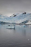 Panorama of Paradise Harbor and Brown Station (Estación Científica Almirante Brown) in Antarctica from the Deck of the Hurtigruten MS Fram. (4 of 16) Image taken with a Fuji X-T1 camera and Zeiss 32 mm f/1.8 lens (ISO 200, 32 mm, f/16, 1/500 sec). Raw images processed with Capture One Pro, Focus Magic, Photoshop CC 2015, and AutoPano Giga Pro