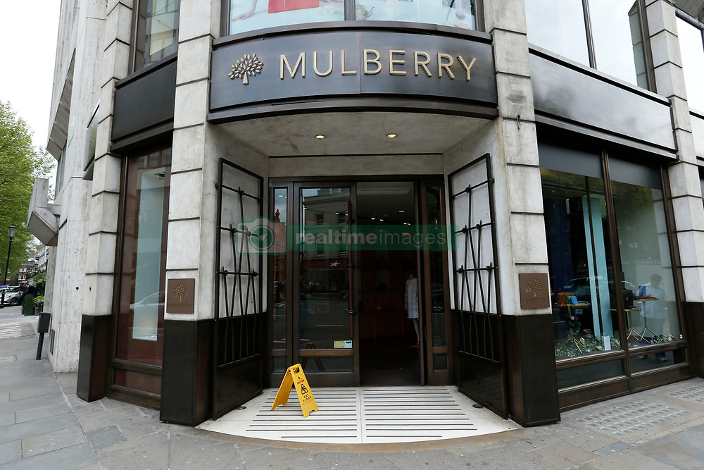 File photo dated 29/4/2014 of the Mulberry store in Knightsbridge, London as the luxury handbag maker has reported rising full-year profits, helped by an increase in tourists taking advantage of the weak pound.
