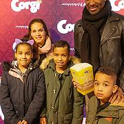 NLD/Amsterdam/20190210- première Corgi, Dwight Dissels en kinderen
