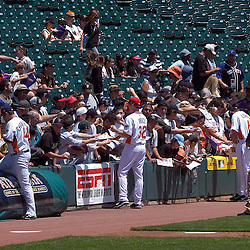 U.S. Team members sign autographs on the field before the 2007 XM All-Star Futures Game, Sunday, July 8 at AT&T Park in San Francisco...Photo by David Calvert/MLB.com