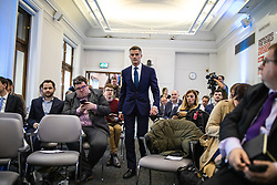 © Licensed to London News Pictures. 11/06/2019. London, UK. Mark Harper MP, who is running to be Leader of the Conservative Party and the next Prime Minister, arrives at the official launch event for his leadership campaign. Photo credit: Rob Pinney/LNP