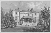 Albany Cottage, Regent's Park, engraving 'Metropolitan Improvements, or London in the Nineteenth Century' London, England, UK 1828 , drawn by Thomas H Shepherd