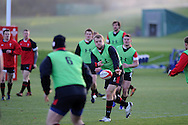 Scott Andrews (c) in action.Wales rugby team training at the Vale, Hensol, near Cardiff on Thursday 29th November 2012. the team are preparing for their final Autumn international match against Australia this Saturday. pic by Andrew Orchard, Andrew Orchard sports photography,