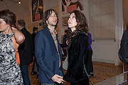 BOBBY GILLESPIE; KATY ENGLAND, Dazed & Confused 20th Anniversary Exhibition. Somerset House. London. 3 November 2011<br /> <br />  , -DO NOT ARCHIVE-© Copyright Photograph by Dafydd Jones. 248 Clapham Rd. London SW9 0PZ. Tel 0207 820 0771. www.dafjones.com.