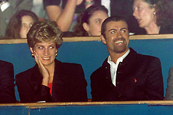 (L-R) HRH Princess Diana and George Michael