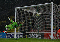 Photo: Richard Lane/Richard Lane Photography. Watford v Blackpool. Coca Cola Championship. 01/11/2008. Ben Burgess shot beats keeper Richard Lee
