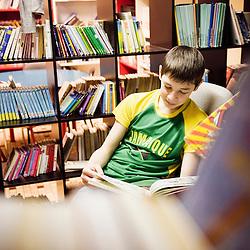Bibliotheque a La Chaumiere, Maison d'enfants à caractere social. Vilcey-sur-Trey (54), France. 10 mars 2010. Photo : Antoine Doyen