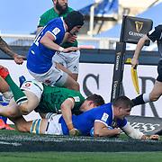 Roma 27/02/2021, Stadio Olimpico<br /> Guinness Six Nations 2021<br /> Italia vs Irlanda <br /> <br /> la meta di Johan Meyer