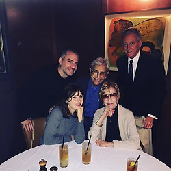 """Zooey Deschanel releases a photo on Instagram with the following caption: """"Am I dreaming? No it\u2019s just a picture from the most fun lunch ever! \ud83d\udc96\ud83e\udd73 @itscarolburnett @george_shapiro"""". Photo Credit: Instagram *** No USA Distribution *** For Editorial Use Only *** Not to be Published in Books or Photo Books ***  Please note: Fees charged by the agency are for the agency's services only, and do not, nor are they intended to, convey to the user any ownership of Copyright or License in the material. The agency does not claim any ownership including but not limited to Copyright or License in the attached material. By publishing this material you expressly agree to indemnify and to hold the agency and its directors, shareholders and employees harmless from any loss, claims, damages, demands, expenses (including legal fees), or any causes of action or allegation against the agency arising out of or connected in any way with publication of the material."""