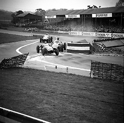 motor racing at Goodwood Race track, Sussex in 1958.