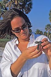 Erin Mcmichael W/ Loggerhead Hatchling