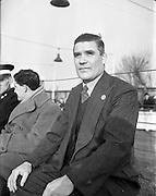 18/01/1953 <br /> 01/18/1953<br /> 18 January 1953<br /> Thomas McGovern, trainer of Transport F.C. at Harold's Cross, Dublin.