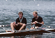 Lucerne, SWITZERLAND GER M2X 1992 FISA World Cup Regatta, Lucerne. Lake Rotsee.  [Mandatory Credit: Peter Spurrier: Intersport Images] 1992 Lucerne International Regatta and World Cup, Switzerland