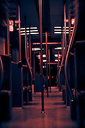 Interior of a public train carriage Berlin S-bahn