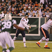 Jay Cutler, Chicago Bears, in action during the New York Jets Vs Chicago Bears, NFL regular season game at MetLife Stadium, East Rutherford, NJ, USA. 22nd September 2014. Photo Tim Clayton for the New York Times