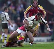 © Intersport Images .Photo Peter Spurrier.12/05/2002.Sport - Rugby League.London Broncos vs Widnes Vikings....
