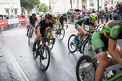 Lisa Brennauer (GER) of CANYON//SRAM Racing rides mid-pack in the seventh lap of the Prudential Ride London Classique - a 66 km road race, starting and finishing in London on July 29, 2017, in London, United Kingdom. (Photo by Balint Hamvas/Velofocus.com)