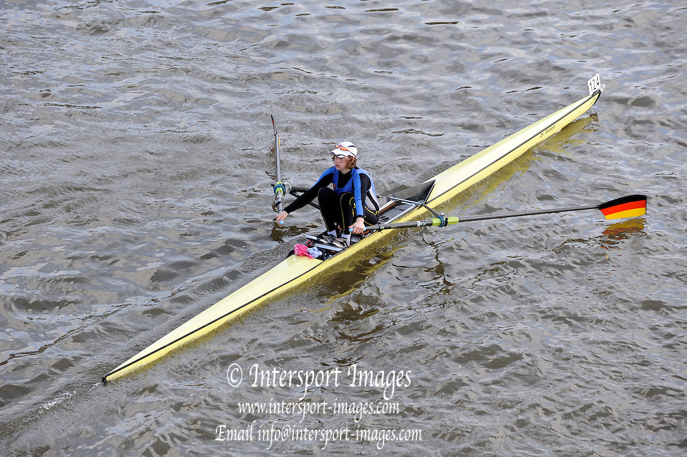 London, Great Britain, Mathilda PAULS, Imperial College,  passes under Chiswick Bridge at the start of the 2009 Scullers Head of the River Race, raced over the Championship Course, Mortlake to Putney, on the River Thames. 12:52:15  Saturday  28/11/2009,  [Mandatory Credit: © Peter Spurrier/Intersport Images]