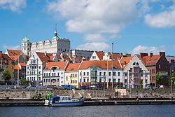 Skyline of Old Town of Szczecin in Pomerania , Poland