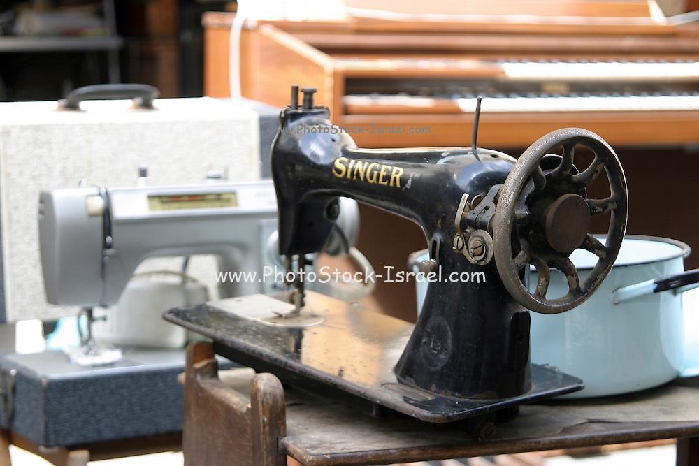 Israel, Jaffa the old flea market an old Singer sewing machine