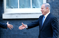 © Licensed to London News Pictures. 10/09/2015. London, UK. Prime Minister David Cameron meets Israeli Prime Minister Benjamin Netanyahu in Downing Street, London on Thursday, September 10, 2015. Photo credit: Tolga Akmen/LNP