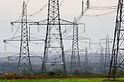 Electricity pylons, England, United Kingdom