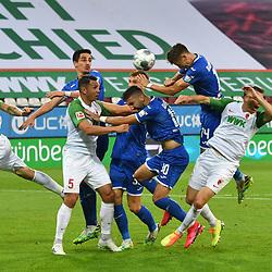 Christoph BAUMGARTNER (1899) beim Kopfball, <br /> <br /> Sport: Fussball: 1. Bundesliga: Saison 19/20: 32. Spieltag, 17.06.2020.<br /> FC Augsburg (A) - TSG 1899 Hoffenheim (1899) <br /> Foto: Frank Hoermann/FOTOAGENTUR SVEN SIMON/POOL/PIX-Sportfotos<br /> <br /> Nur fuer journalistische Zwecke! <br /> Only for editorial use!<br /> <br /> DFL regulations prohibit any use of photographs as image sequences and/or quasi-video.<br /> National and International News Agencies OUT<br /> NO RESALE!