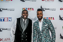 October 11, 2016 - Nashville, Tennessee, USA - William McDowell and Vashawn Mitchel at the 47th Annual GMA Dove Awards  in Nashville, TN at Allen Arena on the campus of Lipscomb University.  The GMA Dove Awards is an awards show produced by the Gospel Music Association. (Credit Image: © Jason Walle via ZUMA Wire)