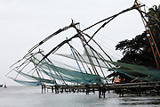 Thursday 14th August 2014: Chinese fishing nets overlook the channel between Vypeen and Fort Kochi.