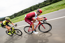 Roger Kluge of Mitchelton Scott and Marcel Kittel of Team Katusha Alpecin during 3rd Stage of 25th Tour de Slovenie 2018 cycling race between Slovenske Konjice and Celje (175,7 km), on June 15, 2018 in  Slovenia. Photo by Vid Ponikvar / Sportida