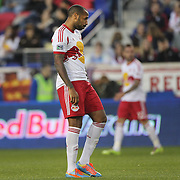 Thierry Henry, New York Red Bulls, dejected after a missed opportunity for his team during another New York Red Bulls loss in their 2-1 home defeat against the Portland Timbers during the Major League Soccer regular season match at Red Bull Arena, Harrison, New Jersey. USA. 24th May 2014. Photo Tim Clayton