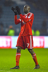 Birmingham City's Cheick N'Doye applauds the fans after the final whistle