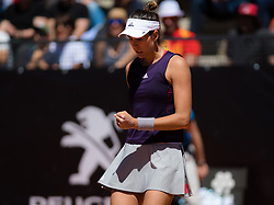 May 16, 2019 - Rome, ITALY - Garbine Muguruza of Spain in action during her second-round match at the 2019 Internazionali BNL d'Italia WTA Premier 5 tennis tournament (Credit Image: © AFP7 via ZUMA Wire)