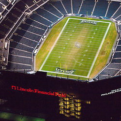 Aerial view of the Philadelphia Eagles at Lincoln Financial Field, Aerial view of the Philadelphia Eagles at Lincoln Financial Field night shot