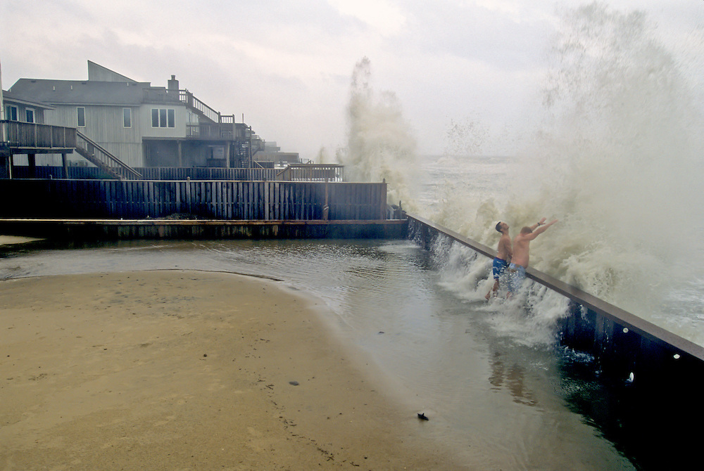 College students dare a hurricane on the Outer Banks of North Carolina