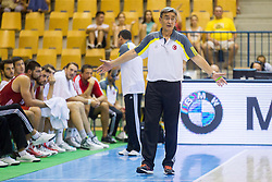 Bogdan Tanjevic, head coach of Turkey during friendly match between National teams of Slovenia and Turkey for Eurobasket 2013 on August 4, 2013 in Arena Zlatorog, Celje, Slovenia. (Photo by Vid Ponikvar / Sportida.com)