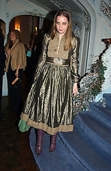MISS DAISY DE VILLENEUVE at jewellers Tiffany's Christmas party held at The Savile Club, 69 Brook Street, London on 14th December 2004.<br /><br />NON EXCLUSIVE - WORLD RIGHTS