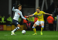 Preston North End's Callum Robinson under pressure from Leeds United's Luke Ayling<br /> <br /> Photographer Kevin Barnes/CameraSport<br /> <br /> The EFL Sky Bet Championship - Preston North End v Leeds United -Tuesday 9th April 2019 - Deepdale Stadium - Preston<br /> <br /> World Copyright © 2019 CameraSport. All rights reserved. 43 Linden Ave. Countesthorpe. Leicester. England. LE8 5PG - Tel: +44 (0) 116 277 4147 - admin@camerasport.com - www.camerasport.com