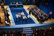 King Felipe VI of Spain, Queen Letizia of Spain, Steve Tew, Grant Fox, Keven Mealamu, Conrad Smith, Israel Dagg, Jordie Barrett from All Blacks attended the 'Princesa de Asturias Awards 2017 (Princess of Asturias awards)' ceremony at the Campoamor Theater on October 20, 2017 in Oviedo, Spain.