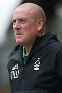 Nottingham Forest Manager Mark Warburton looks on. EFL Skybet football league championship match, Brentford  v Nottingham Forest at Griffin Park in London on Saturday 12th August 2017.<br /> pic by Steffan Bowen, Andrew Orchard sports photography.