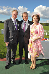 Left to right,PAUL RAYNER, MONTY ROBERTS American horse trainer and his daughter DEBBIE LOUCKS at Al Habtoor Royal Windsor Cup Final 2012 at Guards Polo Club, Berkshire on 24th June 2012.
