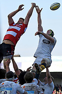 Line out during the Aviva Premiership match between Gloucester Rugby and Wasps at the Kingsholm Stadium, Gloucester, United Kingdom on 24 February 2018. Picture by Alan Franklin.