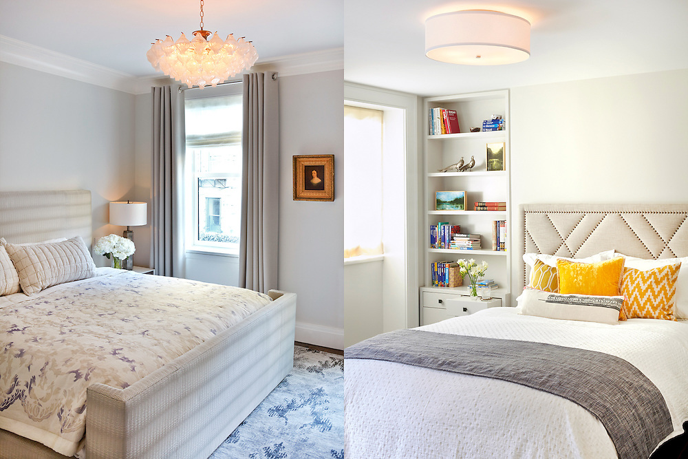 Brooklyn Heights Town House. Master bedroom and guest bedroom. Architect: CWB Architects. Designer: CWB Architects