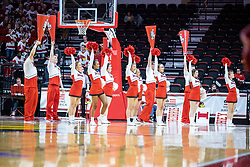 NORMAL, IL - February 27: Redbird Cheerleaders during a college women's basketball game between the ISU Redbirds and the Bears of Missouri State February 27 2020 at Redbird Arena in Normal, IL. (Photo by Alan Look)