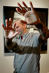 05 October 2013. New Orleans, Louisiana.<br /> Dan Tague and his Almighty Dollar bills at Jonathan Ferrara Gallery.<br /> Photo; Charlie Varley